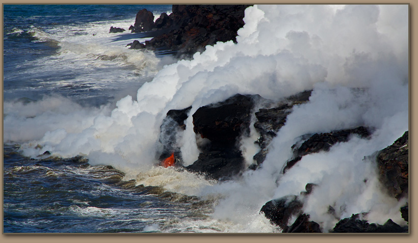 Lava flows into Pacific Ocean 2013.
