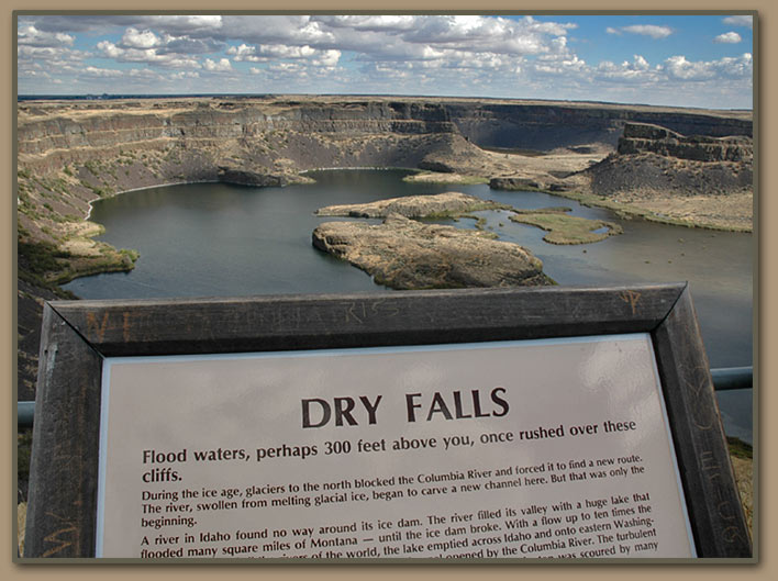 Ice Age Floods, Dry Falls Channeled Scablands.